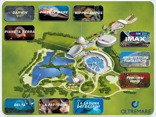 Mappa del Parco Oltremare di Riccione